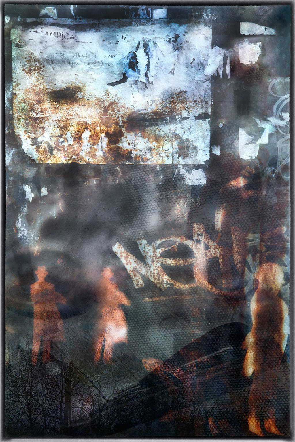 The Metaphysics Of Stencils, Rust & Paper Embracing Its Patina